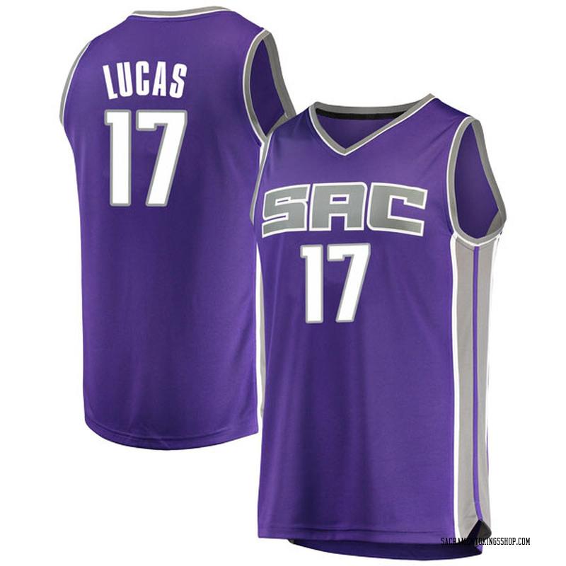 Fanatics Branded Sacramento Kings Swingman Purple Kalin Lucas Fast Break Jersey - Icon Edition - Men's