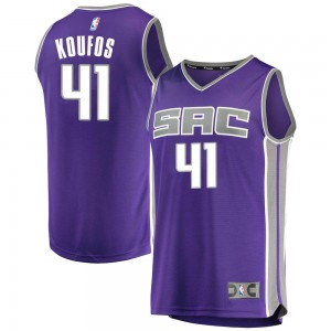 Fanatics Branded Sacramento Kings Swingman Purple Kosta Koufos Fast Break Jersey - Icon Edition - Youth