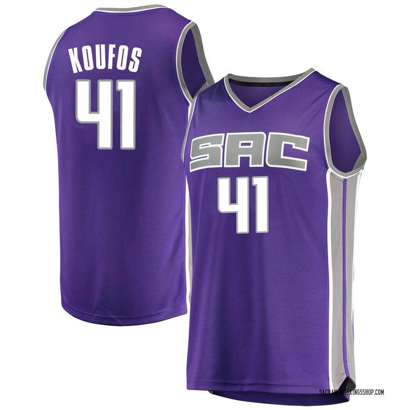 Fanatics Branded Sacramento Kings Swingman Purple Kosta Koufos Fast Break Jersey - Icon Edition - Youth
