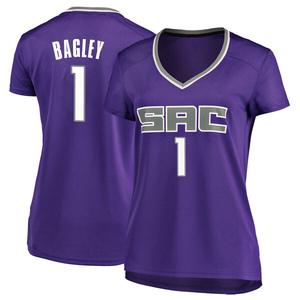 Fanatics Branded Sacramento Kings Swingman Purple Marvin Bagley III Fast Break Jersey - Icon Edition - Women's