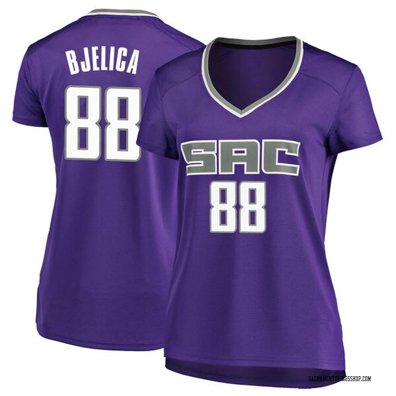 Fanatics Branded Sacramento Kings Swingman Purple Nemanja Bjelica Fast Break Jersey - Icon Edition - Women's