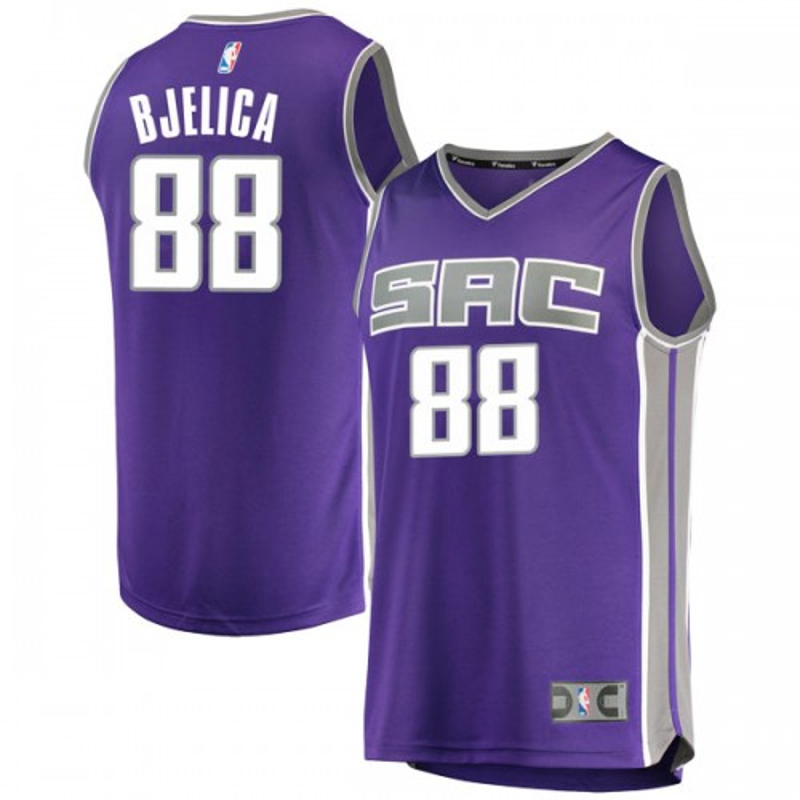 Fanatics Branded Sacramento Kings Swingman Purple Nemanja Bjelica Fast Break Jersey - Icon Edition - Youth