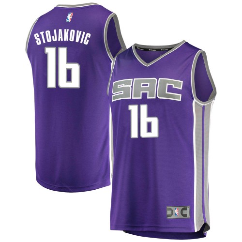 Fanatics Branded Sacramento Kings Swingman Purple Peja Stojakovic Fast Break Jersey - Icon Edition - Men's