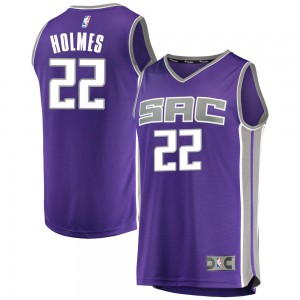 Fanatics Branded Sacramento Kings Swingman Purple Richaun Holmes Fast Break Jersey - Icon Edition - Men's