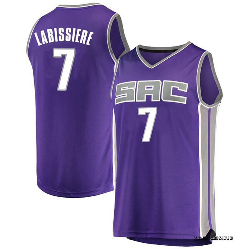 Fanatics Branded Sacramento Kings Swingman Purple Skal Labissiere Fast Break Jersey - Icon Edition - Men's