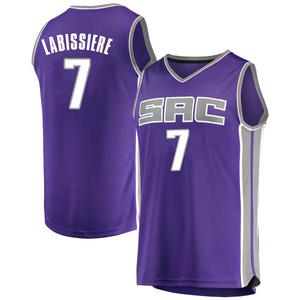 Fanatics Branded Sacramento Kings Swingman Purple Skal Labissiere Fast Break Jersey - Icon Edition - Youth