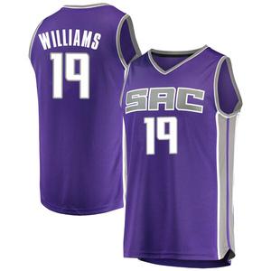 Fanatics Branded Sacramento Kings Swingman Purple Troy Williams Fast Break Jersey - Icon Edition - Youth