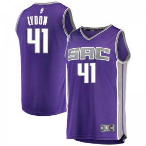 Fanatics Branded Sacramento Kings Swingman Purple Tyler Lydon Fast Break Jersey - Icon Edition - Men's