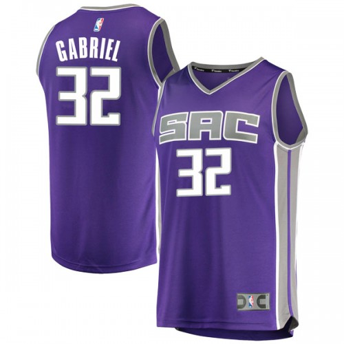Fanatics Branded Sacramento Kings Swingman Purple Wenyen Gabriel Fast Break Jersey - Icon Edition - Youth