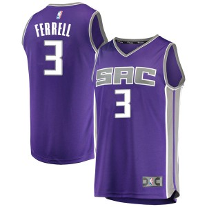 Fanatics Branded Sacramento Kings Swingman Purple Yogi Ferrell Fast Break Jersey - Icon Edition - Men's