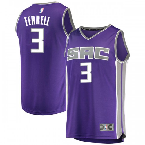 Fanatics Branded Sacramento Kings Swingman Purple Yogi Ferrell Fast Break Jersey - Icon Edition - Youth