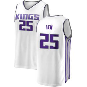 Fanatics Branded Sacramento Kings Swingman White Alex Len Fast Break Jersey - Association Edition - Men's