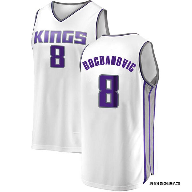 Fanatics Branded Sacramento Kings Swingman White Bogdan Bogdanovic Fast Break Jersey - Association Edition - Men's