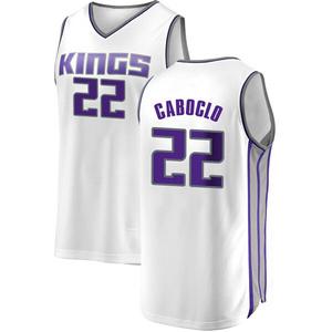 Fanatics Branded Sacramento Kings Swingman White Bruno Caboclo Fast Break Jersey - Association Edition - Youth