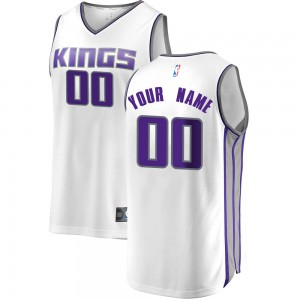 Fanatics Branded Sacramento Kings Swingman White Custom Fast Break Jersey - Association Edition - Men's