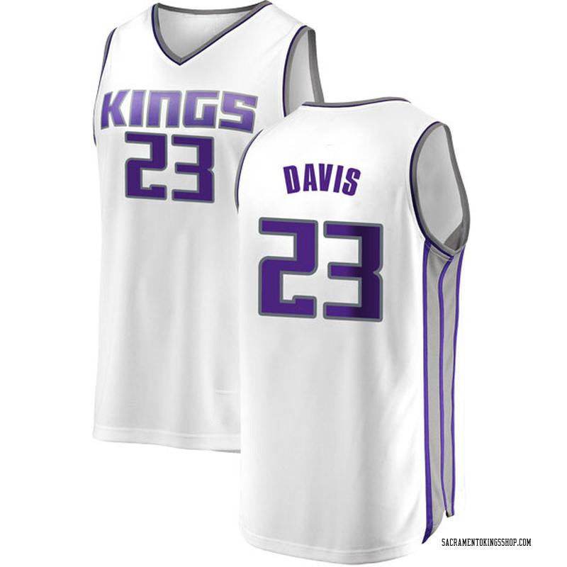 Fanatics Branded Sacramento Kings Swingman White Deyonta Davis Fast Break Jersey - Association Edition - Men's