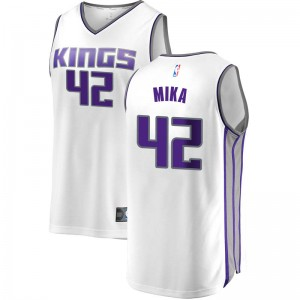 Fanatics Branded Sacramento Kings Swingman White Eric Mika Fast Break Jersey - Association Edition - Men's