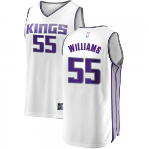 Fanatics Branded Sacramento Kings Swingman White Jason Williams Fast Break Jersey - Association Edition - Youth