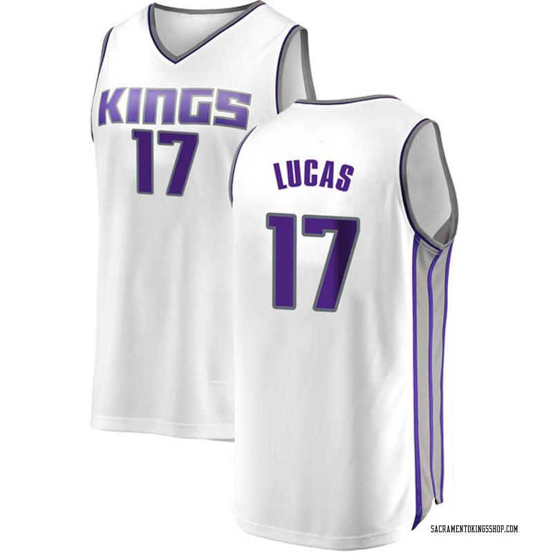 Fanatics Branded Sacramento Kings Swingman White Kalin Lucas Fast Break Jersey - Association Edition - Men's