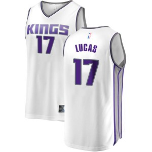 Fanatics Branded Sacramento Kings Swingman White Kalin Lucas Fast Break Jersey - Association Edition - Youth