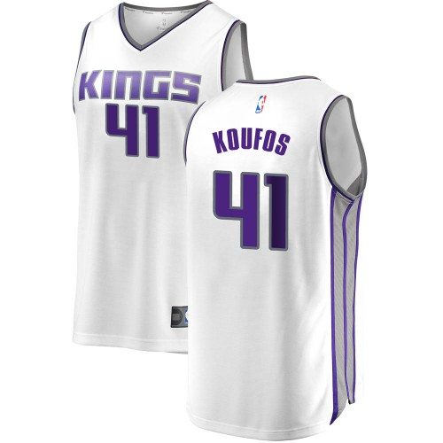 Fanatics Branded Sacramento Kings Swingman White Kosta Koufos Fast Break Jersey - Association Edition - Youth