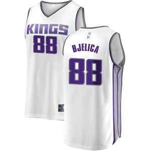 Fanatics Branded Sacramento Kings Swingman White Nemanja Bjelica Fast Break Jersey - Association Edition - Men's