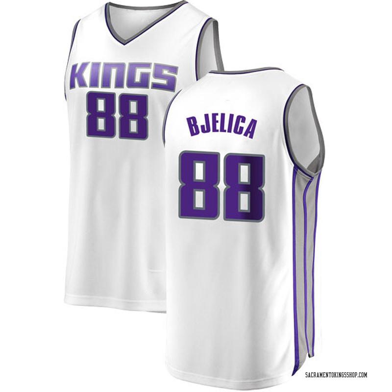Fanatics Branded Sacramento Kings Swingman White Nemanja Bjelica Fast Break Jersey - Association Edition - Men's