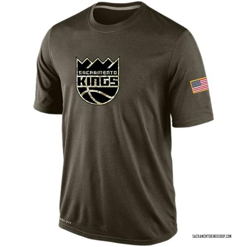 Nike Sacramento Kings Olive Salute To Service KO Performance Dri-FIT T-Shirt - Men's