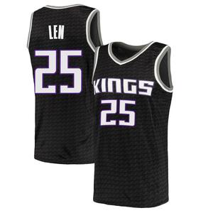 Nike Sacramento Kings Swingman Black Alex Len Jersey - Statement Edition - Men's