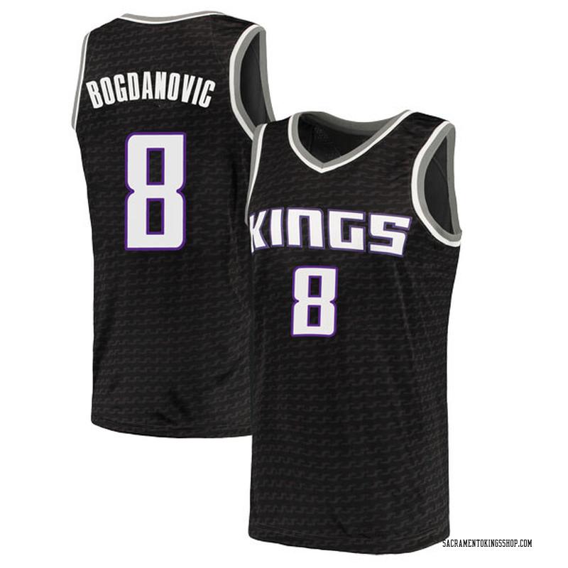 Nike Sacramento Kings Swingman Black Bogdan Bogdanovic Jersey - Statement Edition - Men's