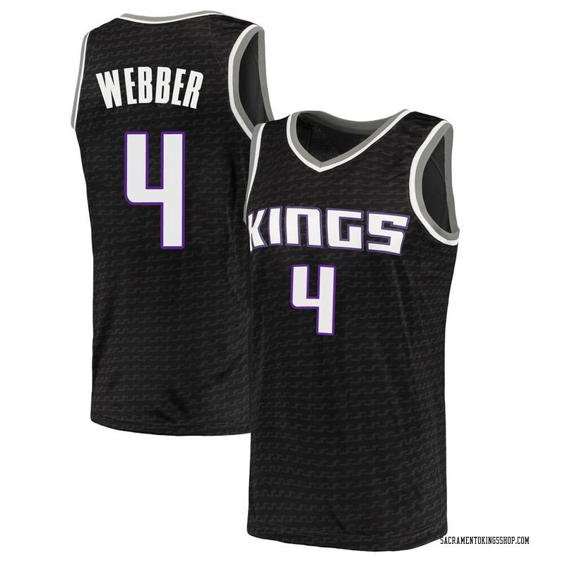Nike Sacramento Kings Swingman Black Chris Webber Jersey - Statement Edition - Men's