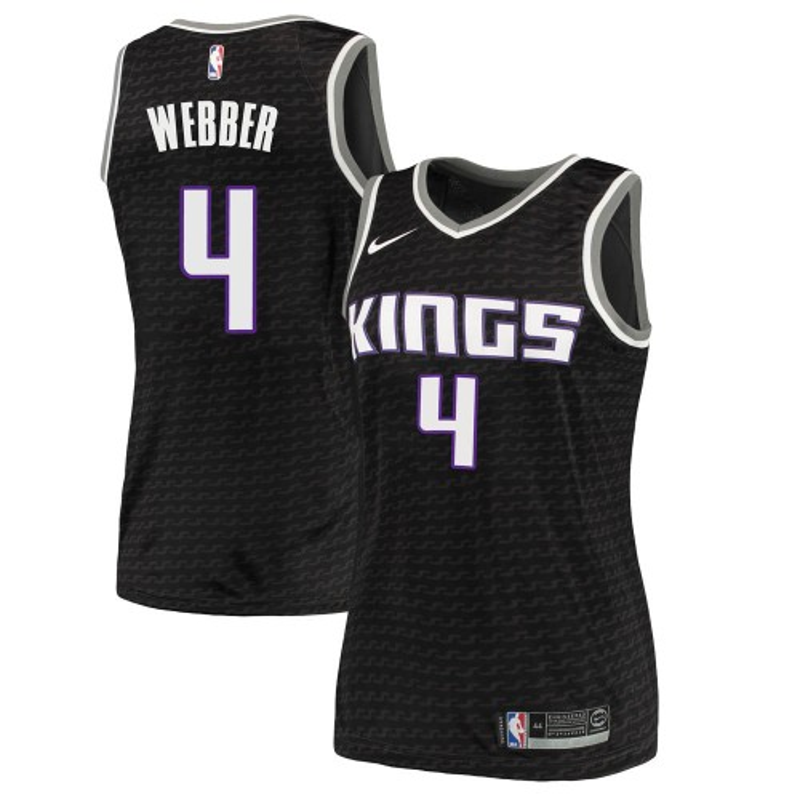 Nike Sacramento Kings Swingman Black Chris Webber Jersey - Statement Edition - Women's