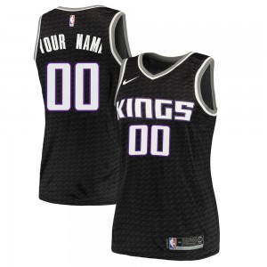 Nike Sacramento Kings Swingman Black Custom Jersey - Statement Edition - Women's