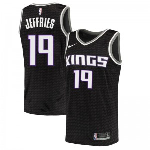 Nike Sacramento Kings Swingman Black DaQuan Jeffries Jersey - Statement Edition - Men's