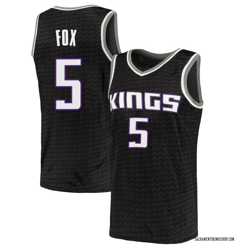 Nike Sacramento Kings Swingman Black Deaaron Fox Jersey - Statement Edition - Men's