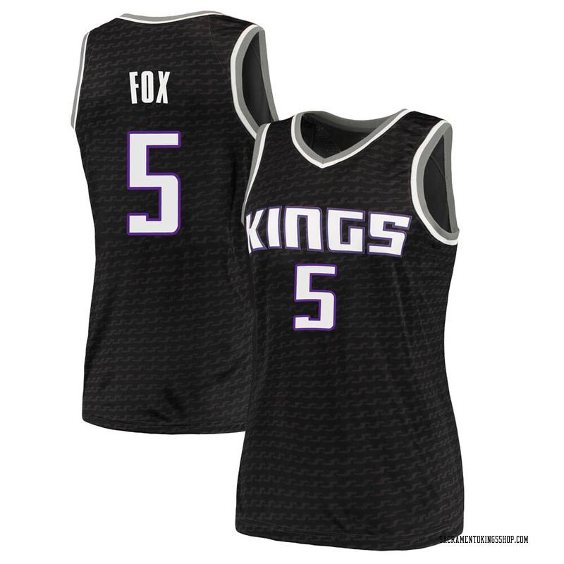 Nike Sacramento Kings Swingman Black Deaaron Fox Jersey - Statement Edition - Women's
