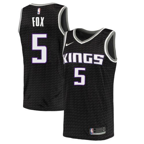 Nike Sacramento Kings Swingman Black Deaaron Fox Jersey - Statement Edition - Youth