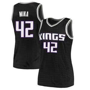 Nike Sacramento Kings Swingman Black Eric Mika Jersey - Statement Edition - Women's