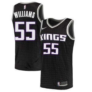 Nike Sacramento Kings Swingman Black Jason Williams Jersey - Statement Edition - Youth