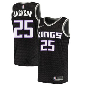 Nike Sacramento Kings Swingman Black Justin Jackson Jersey - Statement Edition - Men's