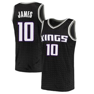 Nike Sacramento Kings Swingman Black Justin James Jersey - Statement Edition - Men's