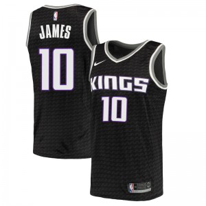 Nike Sacramento Kings Swingman Black Justin James Jersey - Statement Edition - Youth