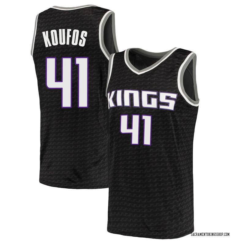 Nike Sacramento Kings Swingman Black Kosta Koufos Jersey - Statement Edition - Men's