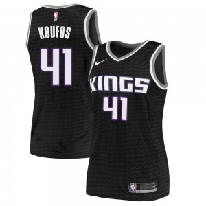 Nike Sacramento Kings Swingman Black Kosta Koufos Jersey - Statement Edition - Women's