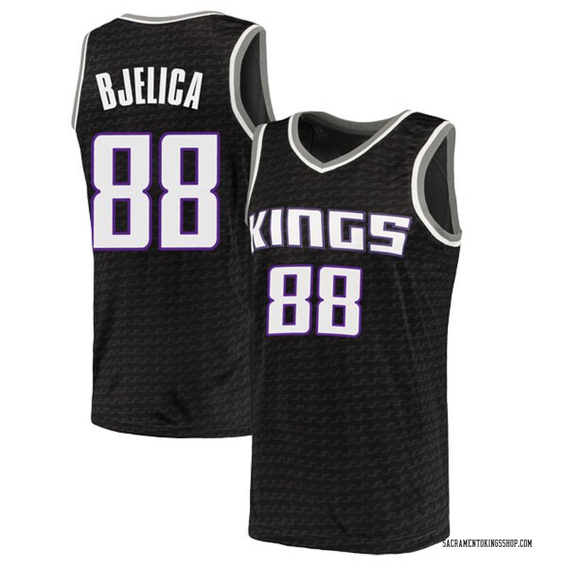 Nike Sacramento Kings Swingman Black Nemanja Bjelica Jersey - Statement Edition - Men's