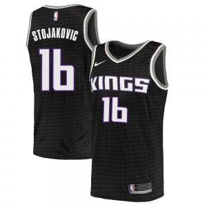 Nike Sacramento Kings Swingman Black Peja Stojakovic Jersey - Statement Edition - Men's