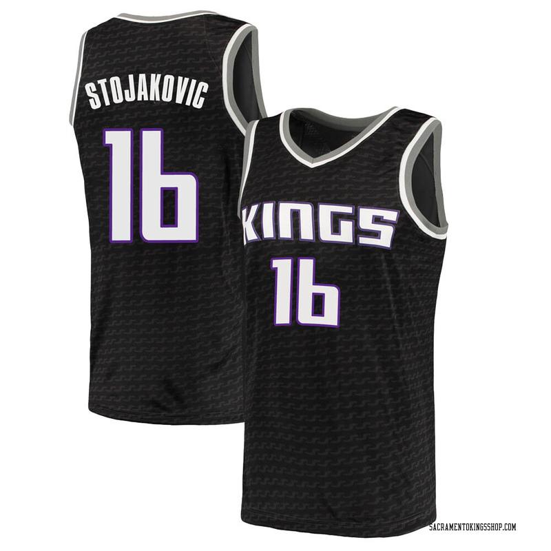 Nike Sacramento Kings Swingman Black Peja Stojakovic Jersey - Statement Edition - Men's