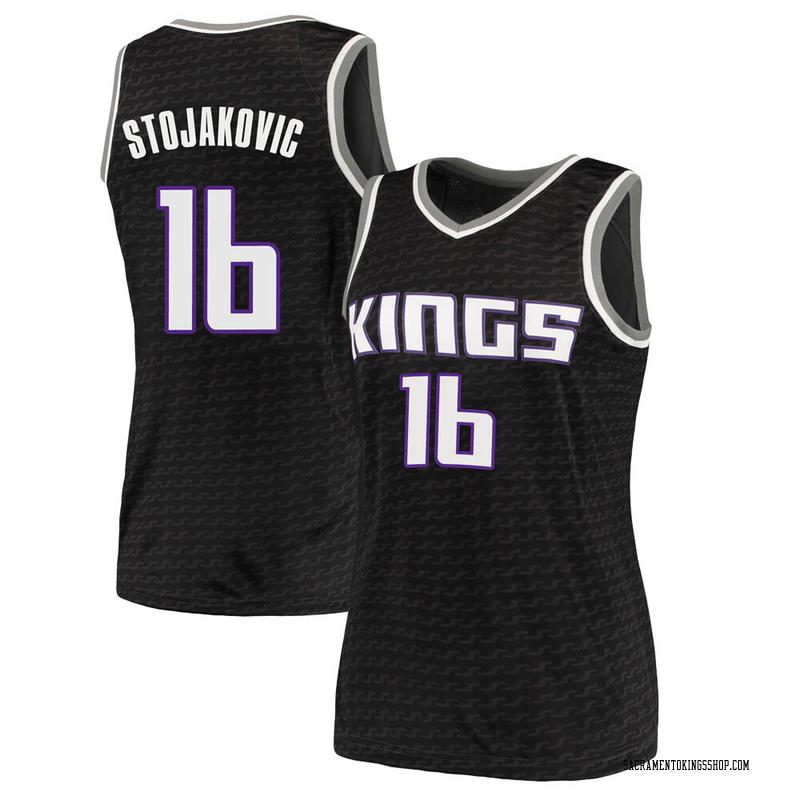 Nike Sacramento Kings Swingman Black Peja Stojakovic Jersey - Statement Edition - Women's