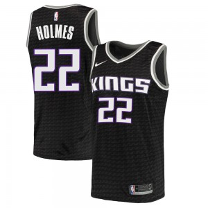 Nike Sacramento Kings Swingman Black Richaun Holmes Jersey - Statement Edition - Men's