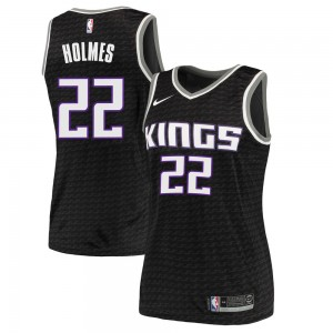 Nike Sacramento Kings Swingman Black Richaun Holmes Jersey - Statement Edition - Women's
